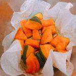 【象印圧力IH鍋レシピ】クッキングシート『クックパー』を使ったら、かぼちゃの煮物が焦げなかった!